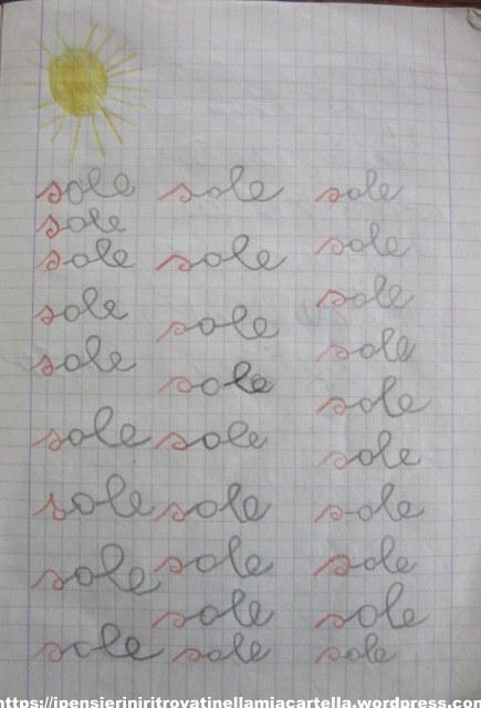 sole-prime-parole-scritte-alle-elementari-di-susanna-albini