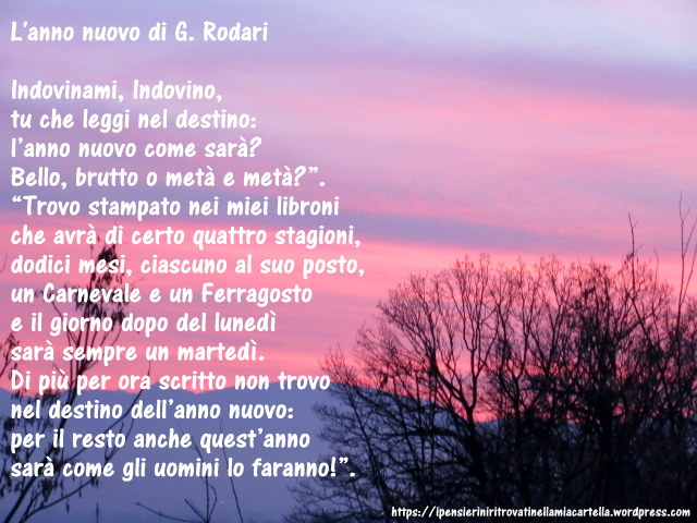 L'anno nuovo - poesia di Gianni Rodari